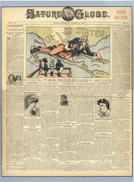 An End to the Spanish American War Reported in The First Newspaper to Print Color Cartoons