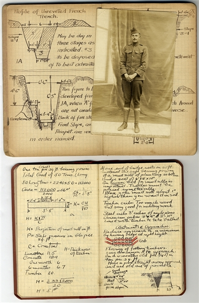 Two U.S. Army Engineer's World War I Notebooks