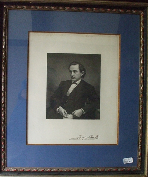 Signed Engraving Of America's Greatest Actor