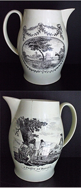 Large Transfer Printed Pitcher