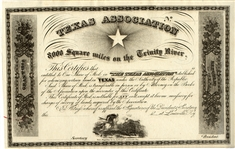 From the Republic of Texas - Texas Association Unengrossed Certificate