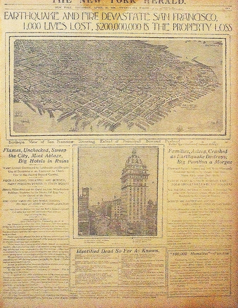 The 1906 San Francisco Earthquake Is Dramatically Reported