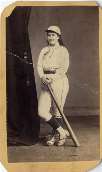 Very Scarce Photo - Woman Baseball Player