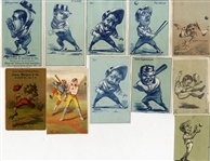 Comic Baseball Trade Cards