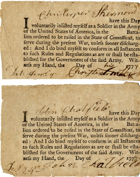 1777 - Enlistment Documents