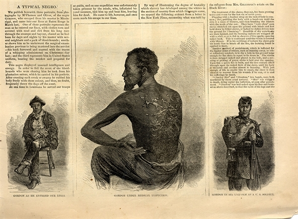 Slave Gordon, the Scarred Back Contraband & Executions of Two Rebels