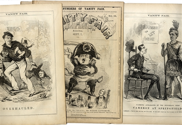 Civil War satire in this lot of Vanity Fair Magazines