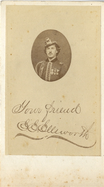 Early 1860's CDV of Col. Elmer E. Ellsworth