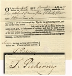 Timothy Pickering Document Signed In Pennsylvana During His Period Of Constitution Ratification