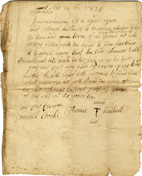 1729 Agreement of Service for One Year