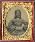 Ambrotype of a Young Black Woman