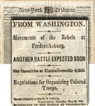 The New York Tribune Reports On The 54th Massachusetts (Colored) Departure For The Front