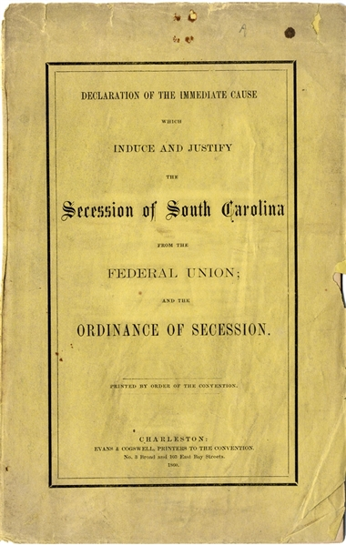 Printed at the Inception of the Southern Nation