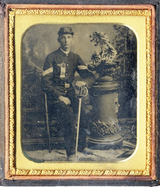 Union Soldier Tintype with Dress Sword