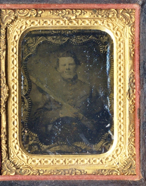 Confederate Soldier Tintype of Ambrotype