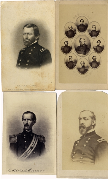 Collection of Four Civil War General CDVs