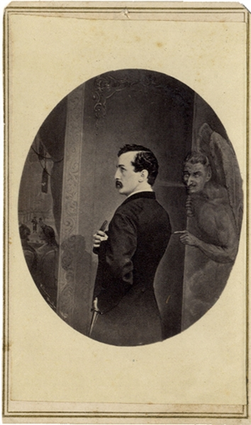 John Wilkes Booth Just Prior to Devilish Act