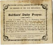 Soldiers Daily Prayer....Abraham Lincoln....Soldiers....Negroes