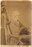 Cabinet Card of a Seated Simon Cameron by Brady