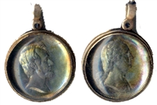 Lincoln and Washington Medalet in Silver