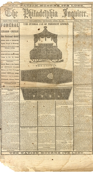 One Of The Most Graphic Newspapers of the Lincoln Assassination