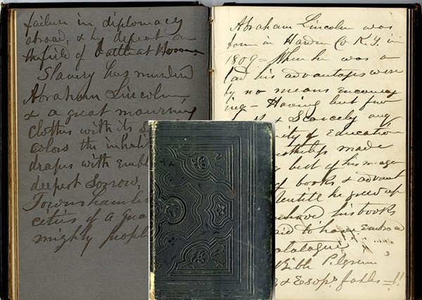 Manuscript Diary of Rev. Archibald Kenyon On Lincoln Assassination, Slavery, The Civil War, Etc.