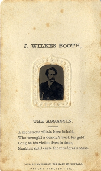 John Wilkes Booth The Assassin Tintype