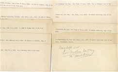 Letter Group to Secretaries of War, Navy