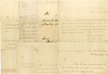 Group of (8)  Letters Signed by  Philip Falkerson Voorhees