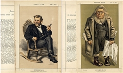 A Vanity Fair Print of The 1872 Presidential Candidates Horace Greeley &  Ulysses S. Grant