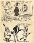 A Pair of Presidential Postcards Satirizing the 1912 Election