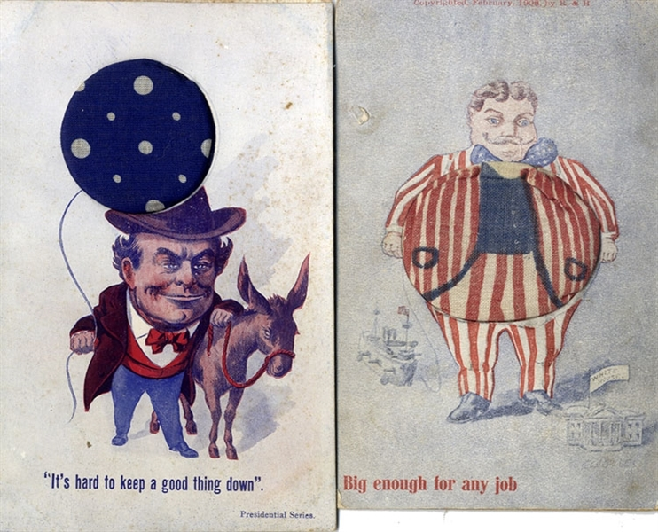 Unique Pin Cushioned Post Cards - 1908