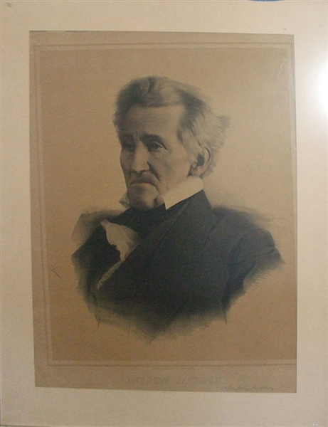 Very rare Andrew Jackson Lithograph