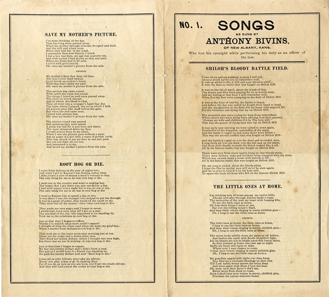 Jesse James Songsheet
