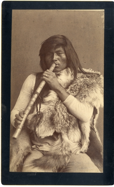 Very Nice Native American Flutist Photograph