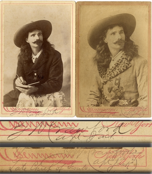 A Pair of Signed Photographs by Captain jack Crawford
