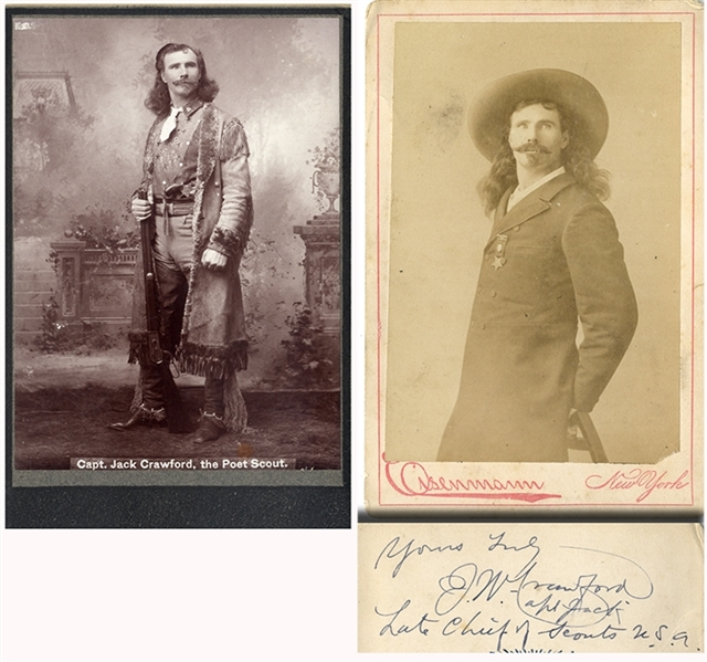 Another Pair of Captain Jack Crawford Cabinet card Phtographs