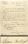 Gideon Welles Document Signed