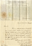 Connecticut Governor John Cotton Smith War of 1812 Documents Related To General Nathaniel Terry.