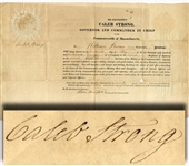 War of 1812 Appointment Signed by Caleb Strong
