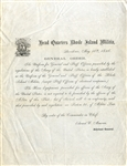 1856 Rhode Island Militia Document