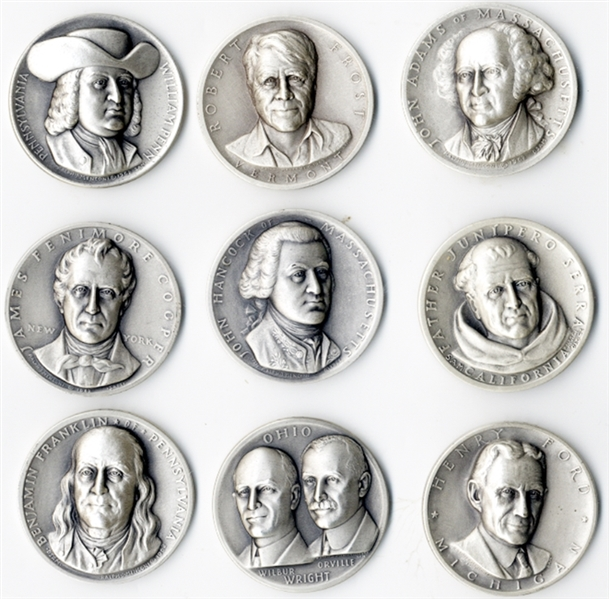 Historic American Personalities in Silver