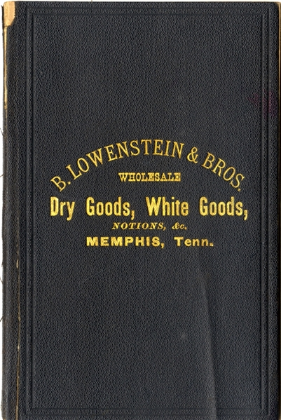 Lowenstein & Bros. Wholesale notebook