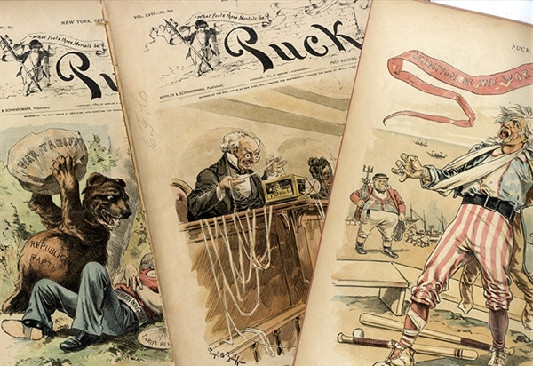 Beautiful Stone Litho Color Political cartoons in this Publication
