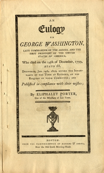 """Mr. Porter's Eulogy on Washington""."