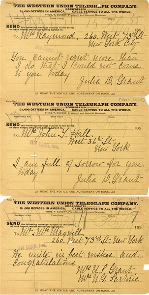First Lady Grant Telegrams