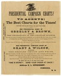 Presidential Campaign Charts....Political Advertising For Grant And Greeley In 1872