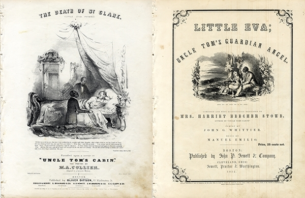 A Pair of Uncle Tom's Cabin Music Sheets