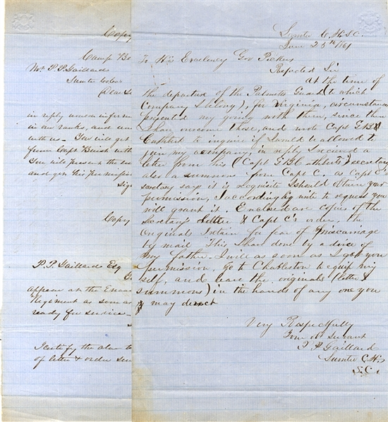 A Pair of Documents Concerning the Palmetto Guard