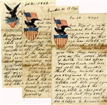 Rare Grouping of 1st Virginia (Union) Volunteer Infantry Letters